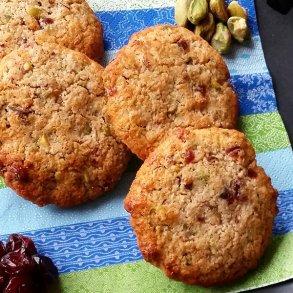 Pistacie cookies med Tranebær