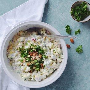 Kartoffelsalat med mandler